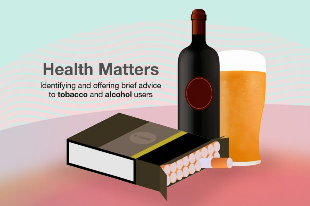 Cover image showing a plain pack of cigarettes, a bottle of wine and a pint of beer.
